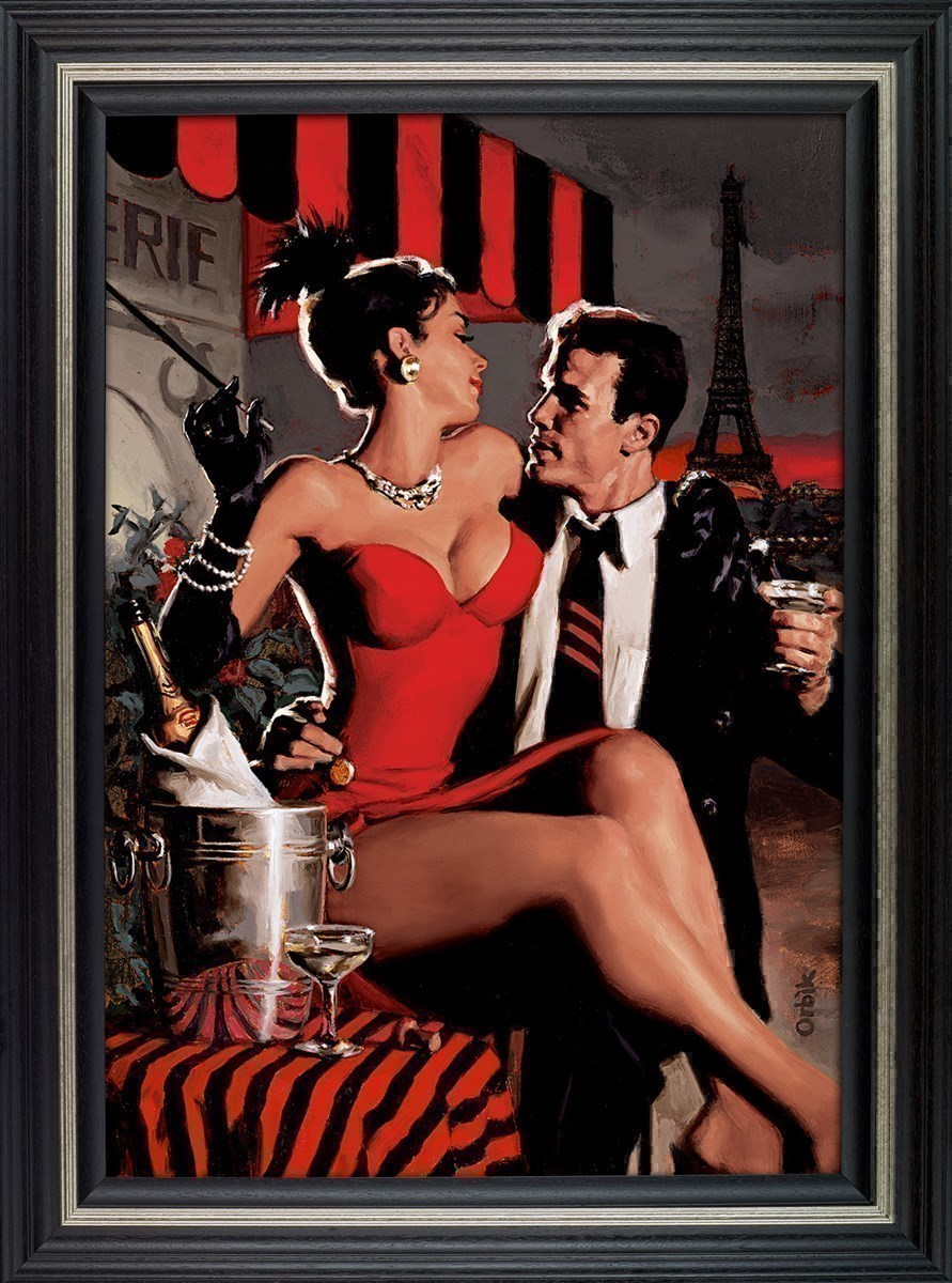 Midnight in Paris by Glen Orbik - Limited Edition on Canvas sized 28x40 inches. Available from Whitewall Galleries